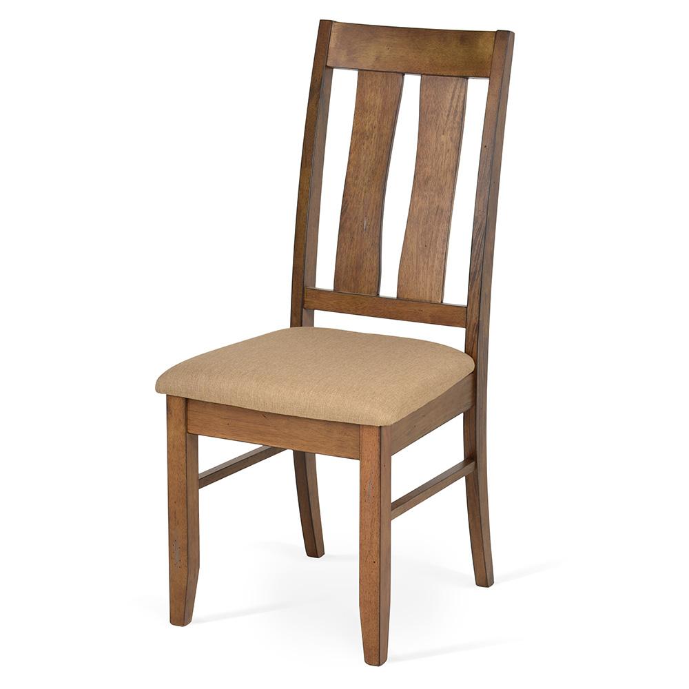 Scaunul din lemn cu tapiterie din stofa PESCARA
