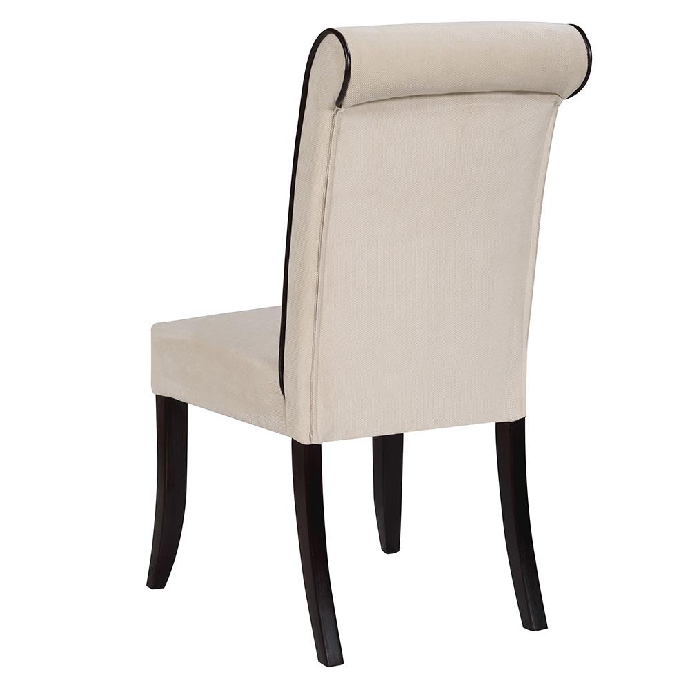 Scaunul din lemn cu tapiterie de stofa, scai sau piele naturala ROGER